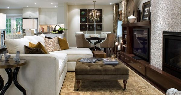 Candice Olson - living rooms - textured fireplace, contemporary fireplace, open plan