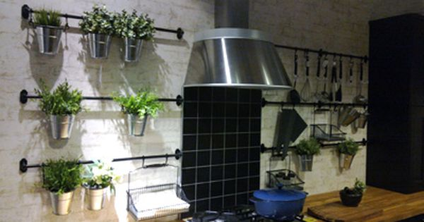 Love This Indoor Kitchen Greenhouse Vertical Bars With
