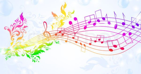 Rainbow Music Notes Background Hd Wallpaper Background Images: Rainbow Music Notes Backgrounds