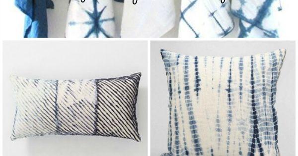DIY Shibori pillow cases
