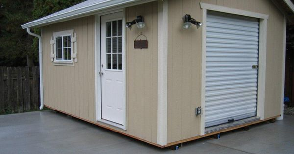 Heritage style with roll up door storage garden shed for Garden shed with roller door
