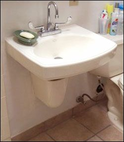 Some Wall Hung Bathroom Accessible Sinks Come With A P Trap Cover To Protect From Burns Sink Accessible Bathroom Sink Under Bathroom Sinks