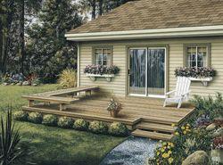 Dewey Low Patio Decks Small Backyard Decks Backyard Patio