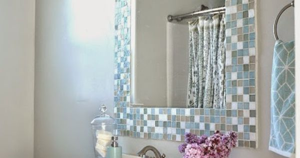 Diy espejo mosaico para cuarto de ba o blog y bricolaje - Espejo para habitacion ...
