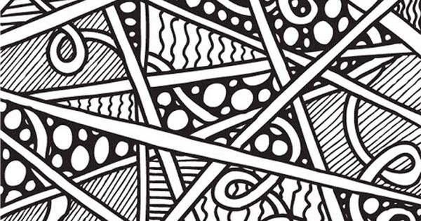 Cool Line Designs Copy And Paste : Abstract doodles print to color lots of cool pages copy