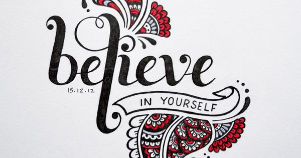 """★ """"Believe in Yourself"""" by Faheema Patel handlettering henna mehndi lettering doodle"""
