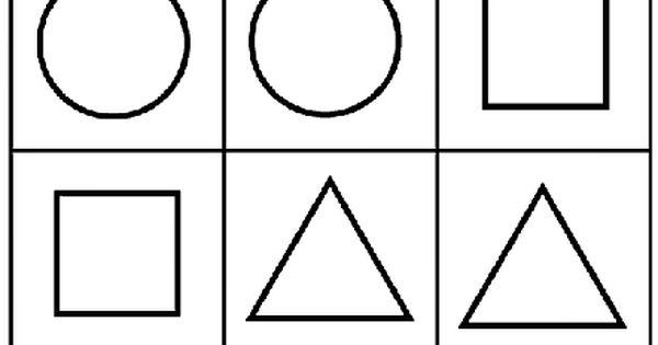 Simple Shape Bingo 3 Coloring Page