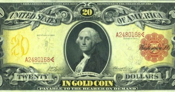 Paper Money Does Change This Is A Gold Certificate From The