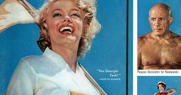 Citaten Marilyn Monroe Ga : Marilyn monroe quot yea georgia tech look magazine