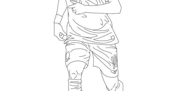 Soccer coloring pages neymar brazil