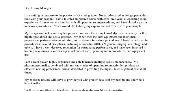 Oncology Nurse Resume Cover Letter Http Www
