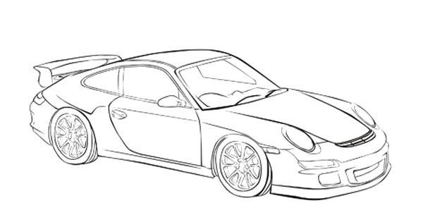porsche 911 carrera coloring page