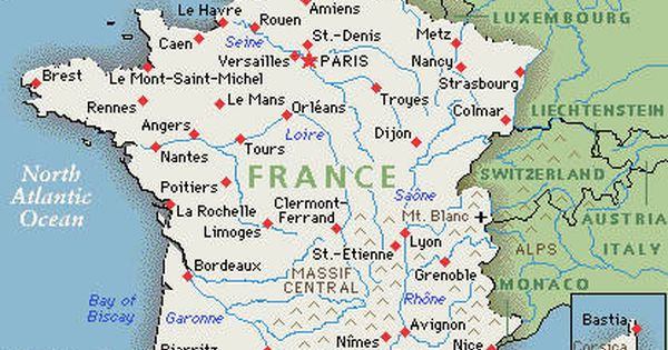 France Map: Google map of France | Places I have been ...