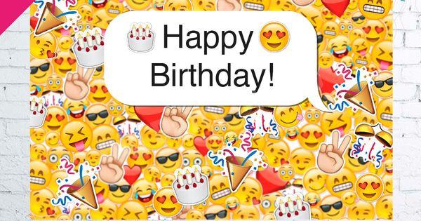 Emoji icons banner emoticons happy birthday backdrop