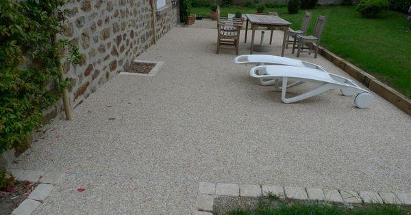 terrasse beton gravier terrasse gravier pinterest terrasse beton gravier et beton. Black Bedroom Furniture Sets. Home Design Ideas
