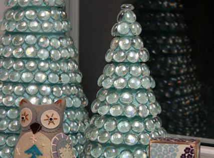 Glass Christmas Trees - Looks easy! You will need Styrofoam cones or
