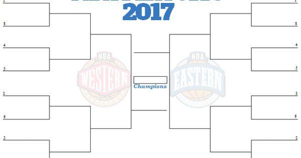 2017 NBA Playoff Bracket | Playoff Brackets | Pinterest