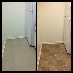 How To Temporarily Redo Your Kitchen Flooring For 30 For Renters Written By Yours Truly G Temporaryflooring Floor Makeover Rental Kitchen Diy Apartments