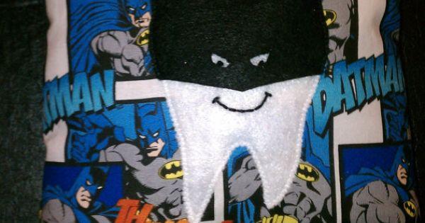Batman tooth fairy pillow mlh pinterest tooth fairy for Batman fairy door