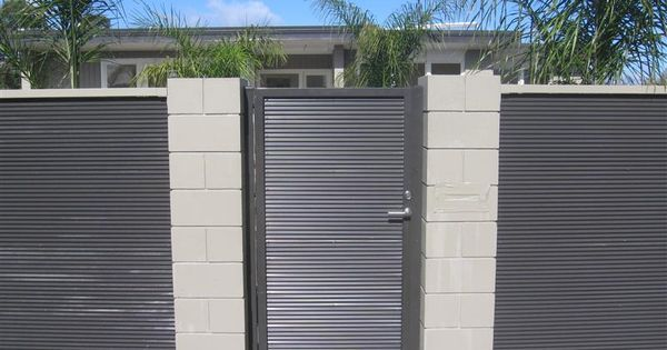 Corrigated Fence Fence Gate Metal And Wood Fencing