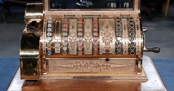 National Cash Register Brass Cash Register Ca 1900