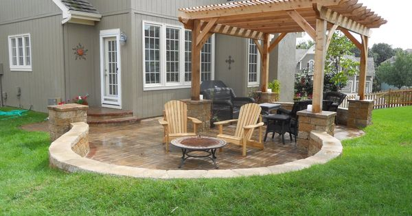 Images of patios with pavers and patio furniture please for Outdoor furniture kansas city
