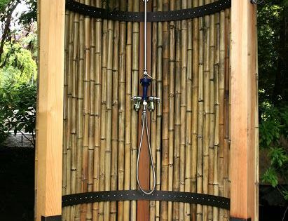 douche en bambous cabane pinterest douches en plein air am nagement paysager et architecture. Black Bedroom Furniture Sets. Home Design Ideas
