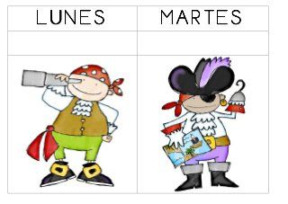 Dias De La Semana Piratas Piratas Dibujos De Piratas Piratas Infantiles