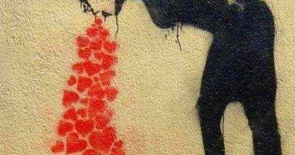 Puking hearts - Banksy | Art | Pinterest | Banksy, Street ...