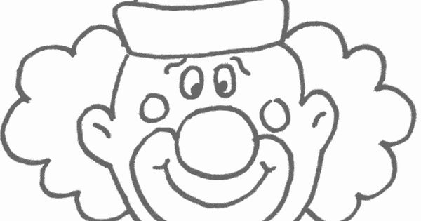 clown face template printable | Free Printable Clown ...