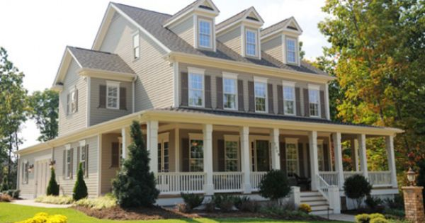 Southern Colonial Style Home Love The Porch