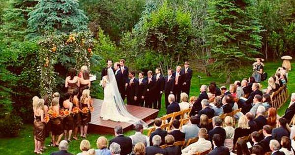 Outdoor Wedding Ceremony (platform?)