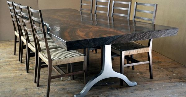 Live Edge Dining Table I Even Like The Legs Contemporary