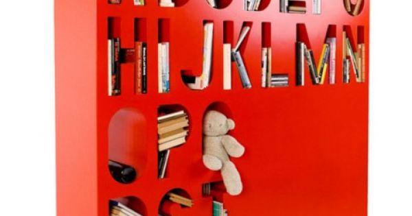 Alphabetic Bookshelf. Designed by Kayiwa, the AAKKOSET is a beautiful storage system