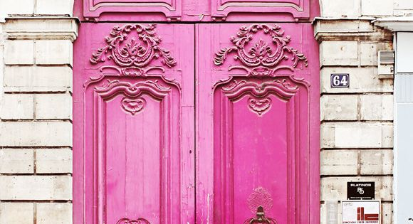 Pink Doors. Paris, France. Photo by Gypsy Fables Travel Photography