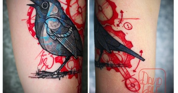 Tattoo by david hale based on a drawing by paul klee a for 19th century tattoos