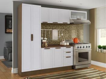 Cozinha Compacta Madesa Glamy Vintage Com Balcao 9 Portas 3