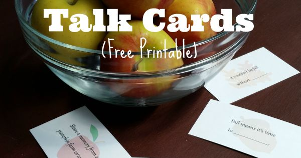 Fall Table Talk Cards (Free Printable | Getting to know ...