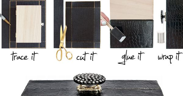 DIY clutch using textured paper. Well there's an idea.