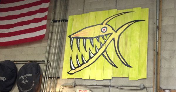 Piranha Bighed 6 Footer Hand Painted Big Hed Signs