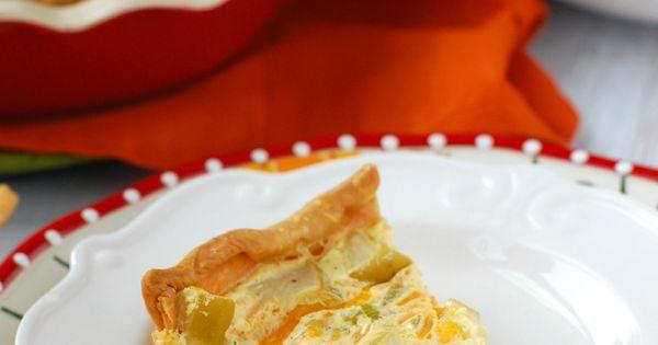Apple Cheddar Quiche | Recipe | Quiche, Cheddar and Apples
