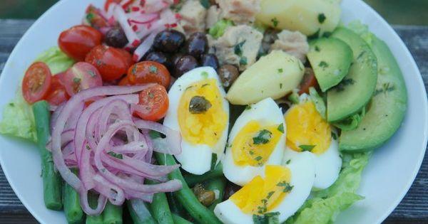 Ensalada francesa tipica de la region de niza comida for Comida francesa tipica