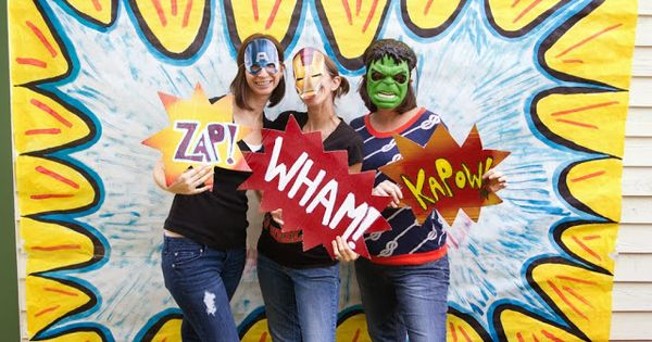 Superhero Birthday Party - Photobooth props