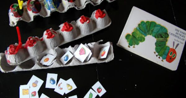 very hungry caterpillar craft & counting activity - printable food - need