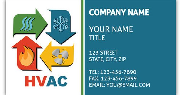 Heating And Cooling Business Card Business Card Logo Custom