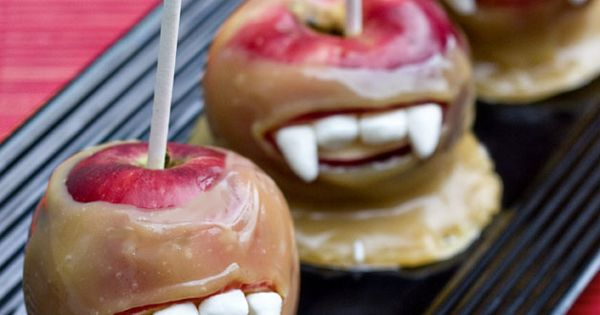 Vampire caramel apples... Twilight party? Yes!