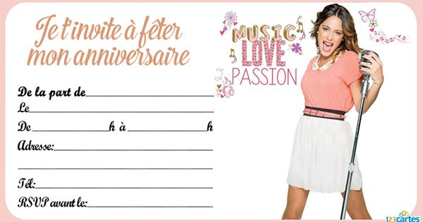 Passion and love invitations pinterest invitation - Carte violetta a imprimer ...