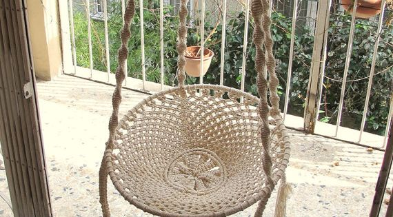 Handmade Macram Adjustable Hammock Swing Macrame Cotton