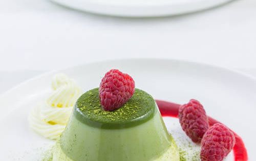 Layered Green Tea Panna Cotta - would this creamy and tasty dessert