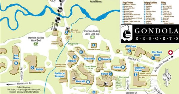 Keystone Colorado River Run Village Map Photo